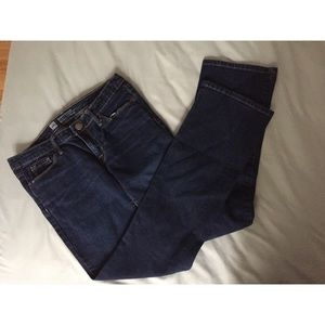 Dark-wash, bootcut blue jeans Size 6